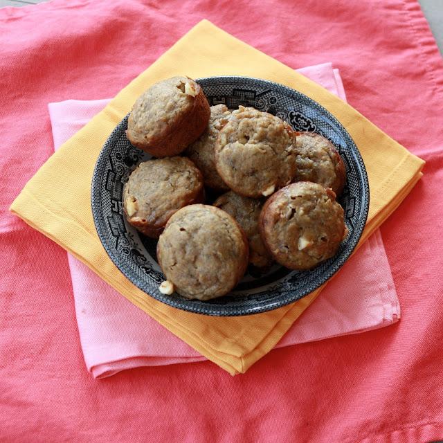 White Chocolate Banana Muffins