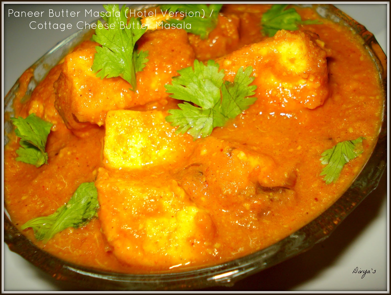 Paneer Butter Masala Restaurant Style | Cottage Cheese ...