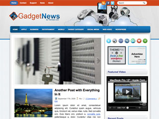 Free GadgetNews Business and Tech WordPress Theme