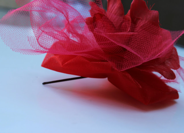 rose fascinator diy