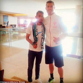 Martunis Ketemuan Sama ROnaldo di Hotel Penginapan Tim Portugal
