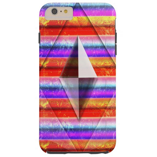 Rainbow Rock and Glass Tough iPhone 6 Plus Case
