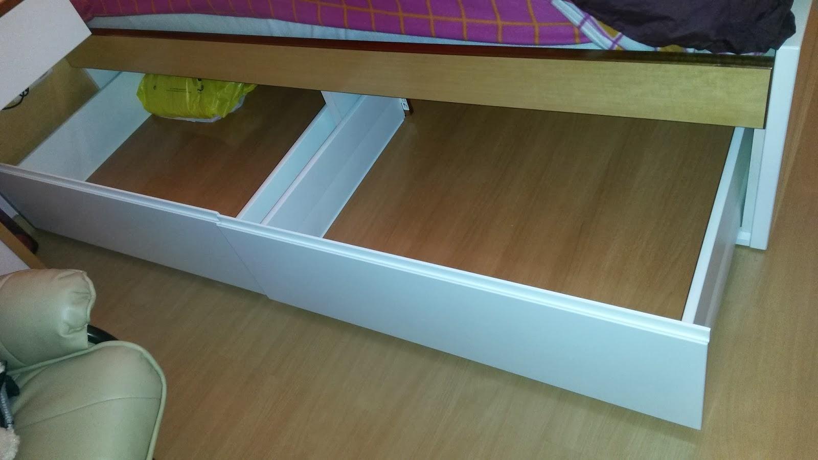 Muebles a medida cama dormitorio con cajones bajo cama for Cajones bajo cama