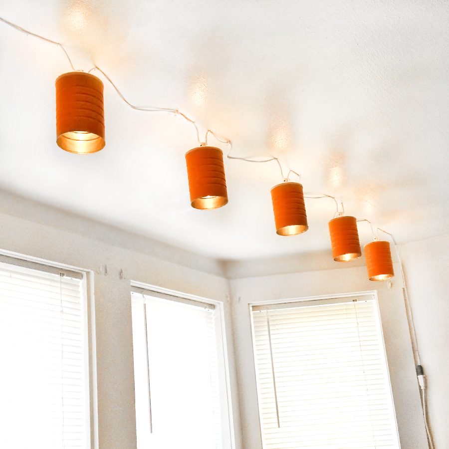 Design With String Lights : One Urban Tribe: Improvised Design: Simple String Lights Made Out of Coffee Cans