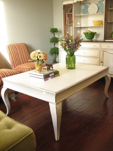 marvelous white french country coffee table with unique and simple shape