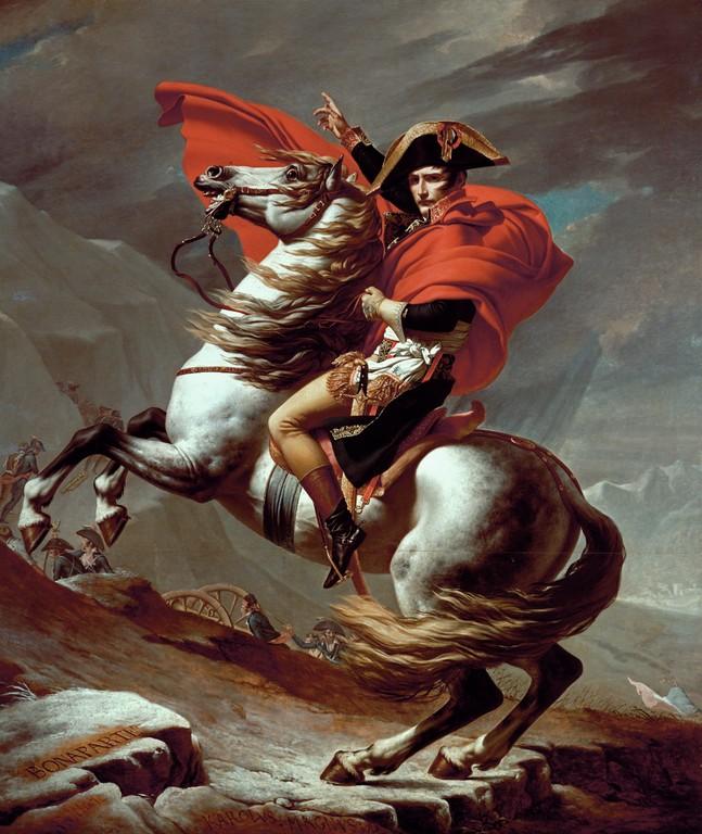 Napoleon la Saint-Bernard. 1801