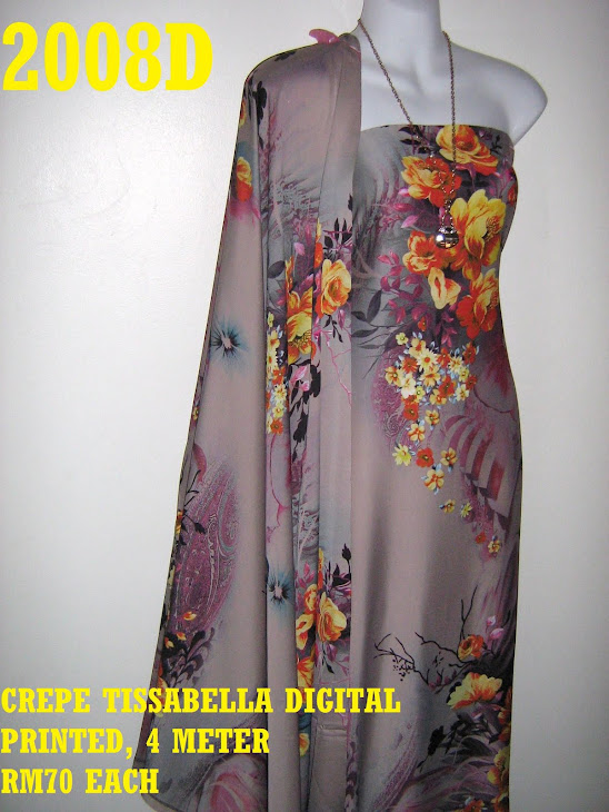 CTD 2008D: CREPE TISSABELLA DIGITAL PRINTED, EXCLUSIVE DESIGN, 4 METER