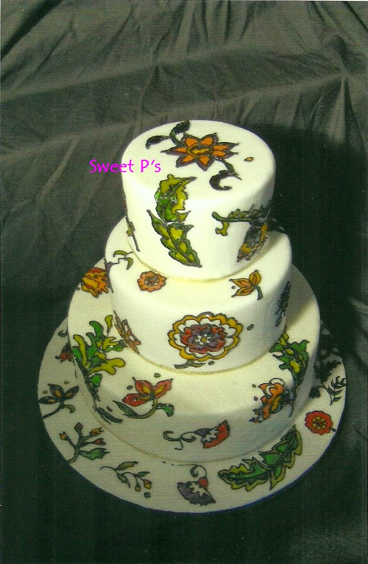 fondant covered cake