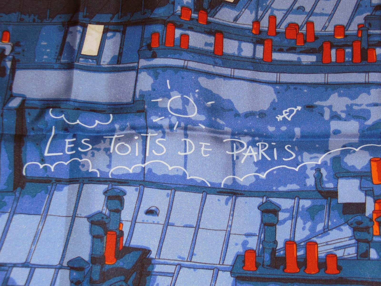 Db Lenck S Mutinous Musings Les Toits De Paris Hermes Scarf