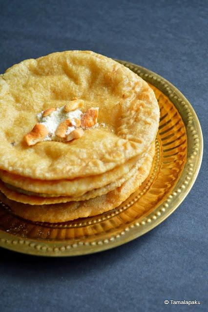 Sojjappam ~ Sooji Halwa Stuffed In Puri