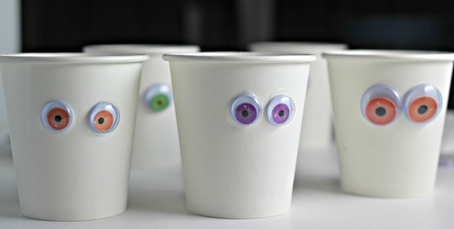 Easy Halloween Mummy Cups Tutorial