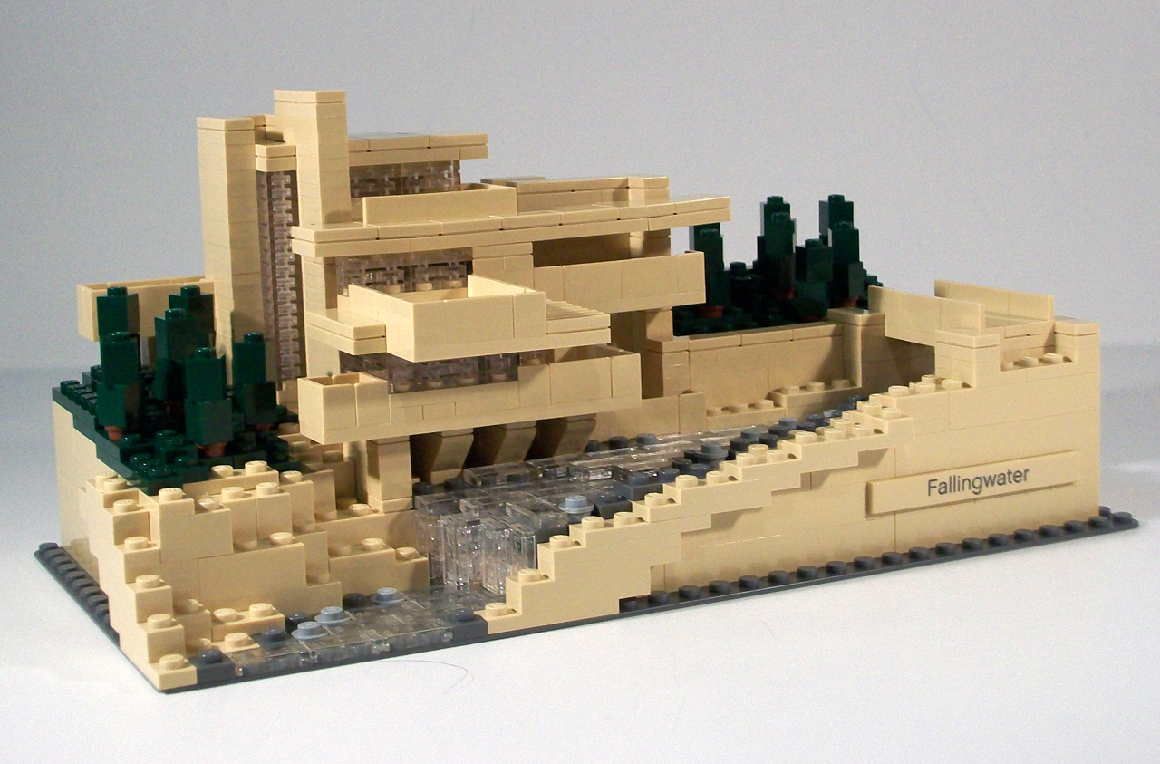 Architecture diagrams galleries lego architecture fallingwater 21005 - Lego falling waters ...