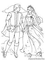 Mewarnai Gambar Pangeran Ken Dan Barbie Dalam Magic Pegasus