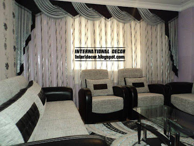 Black And White Curtain Design For Living Room