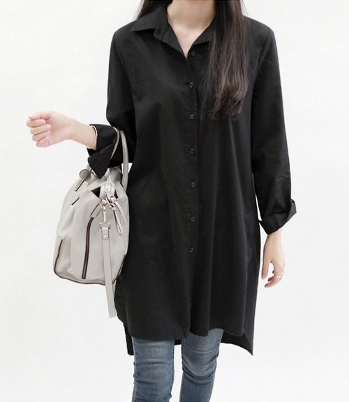 Long Button-Down Shirt