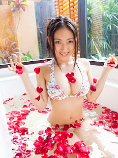 Saaya Irie Japanese girl in bathroom 6