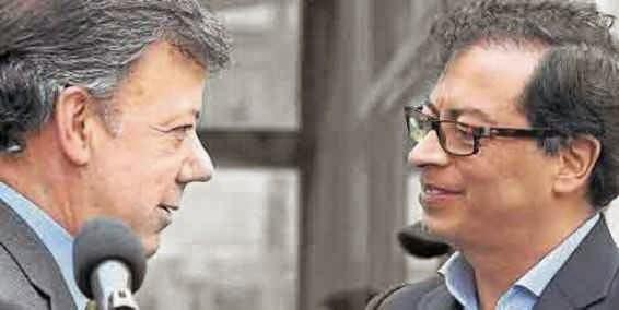 Juasn Manuel Santos y Petro