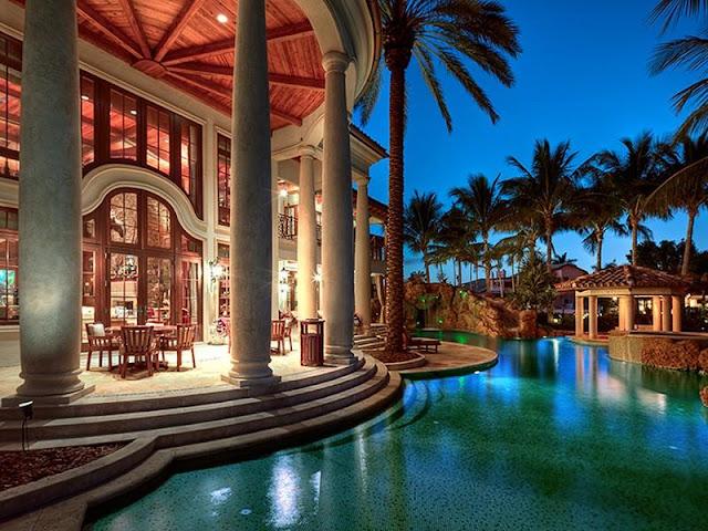 Architecture corner luxury mediterranean home florida for Luxury mediterranean homes