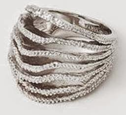 Isharya's Silver Tentacle Leaf Ring