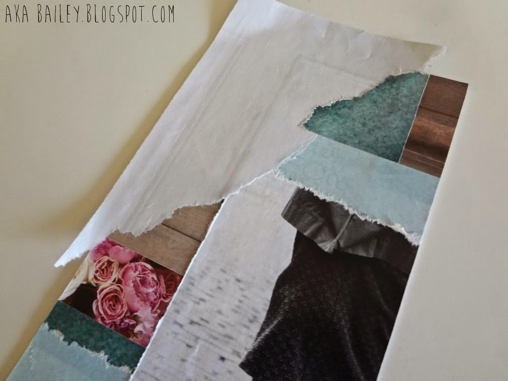 DIY artwork, teal, white, brick, pink, texture, roses, collage