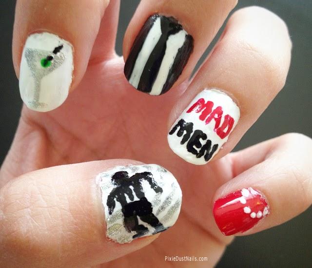 Mad Men Nail Art