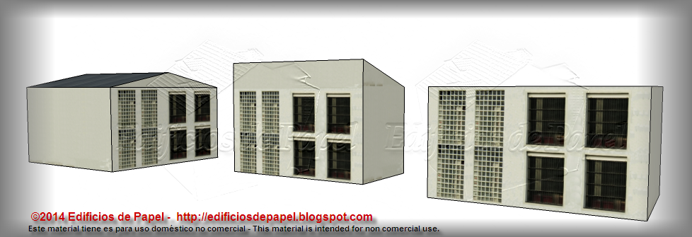 "New façade for the ""Steel Plant"" paper model"