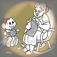 Relembrando os crochês e tricôs de minha vó na cadeira de balanço.