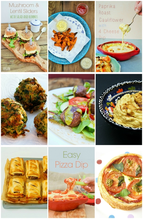 Savoury recipes for Hogmanay. Canapes and dips from tinnedtomatoes.com #canapes #newyear #recipe