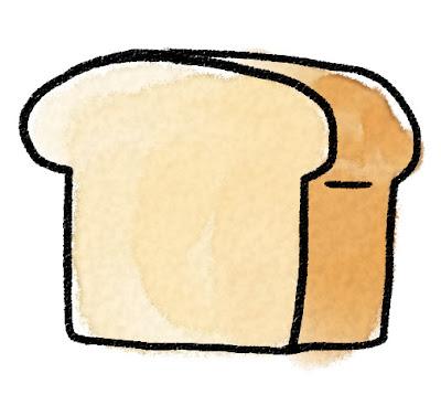 食パン・トーストのイラスト