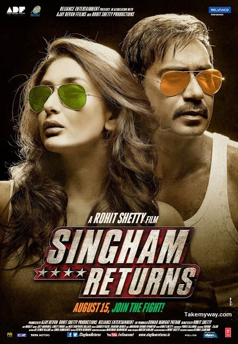 Latest Singham Returns (2014) box office collection Verdict (Hit or Flop) wiki, report New Records, Overseas day and week end.