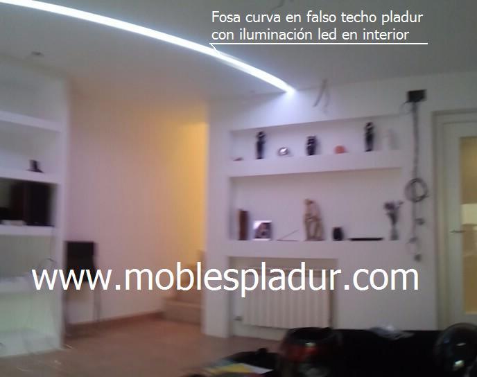 Pladur barcelona iluminaci n mando a distancia - Muebles de pladur para salon ...