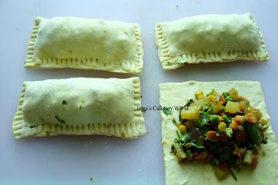 baked veg puffs