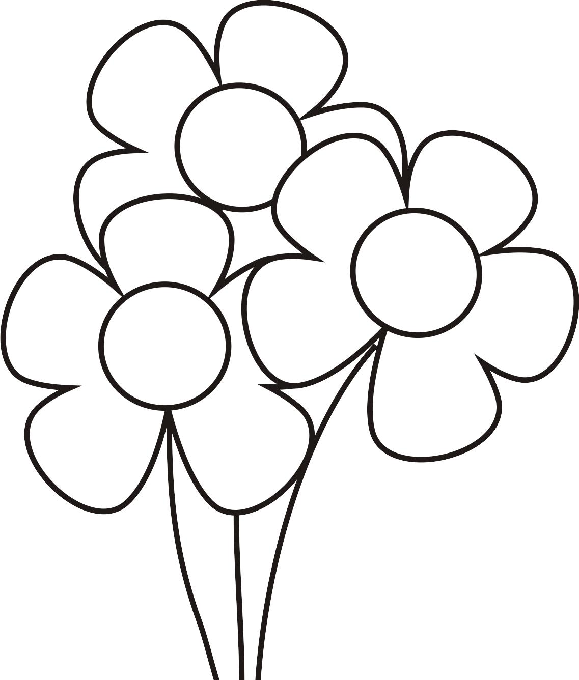 Dibujos de flores para colorear ~ Dibujos para Niños