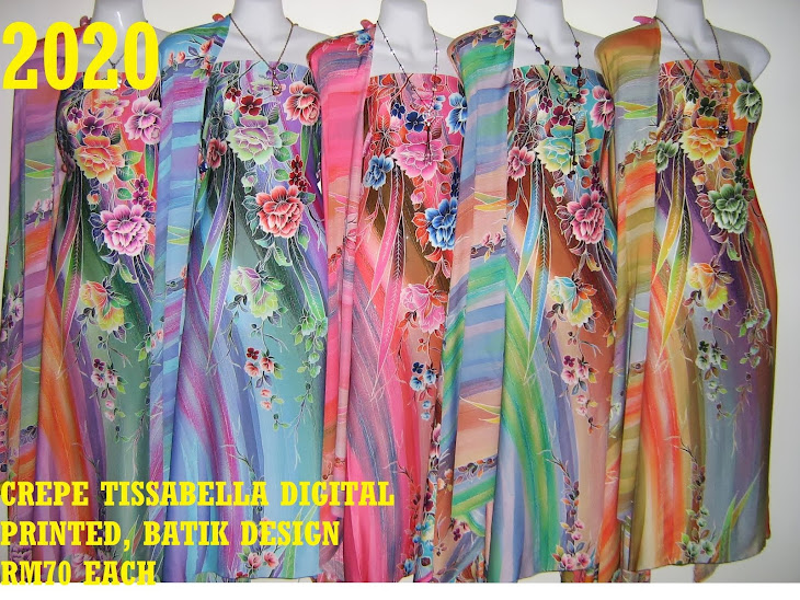 CTD 2020: BATIK CREPE TISSABELLA DIGITAL PRINTED, EXCLUSIVE DESIGN, 4 METER, 5 COLORS