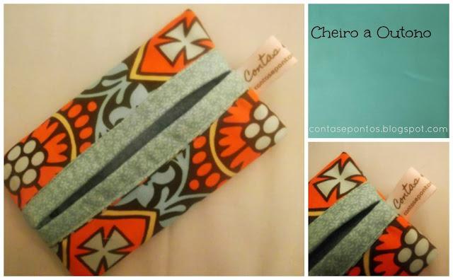 porta lenços de papel em tecido