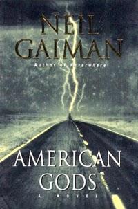 Portada original de American Gods, de Neil Gaiman