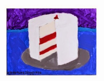 Art Intertwine - Wayne Thiebaud Cake Painting For Kids