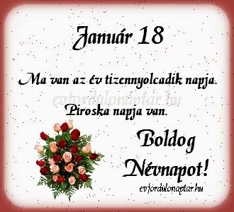 Január 18, Piroska névnap
