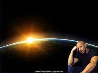 Desktop Wallpaper of Vin Diesel Thinking about new movie in Space Eclipse Desktop Wallpaper