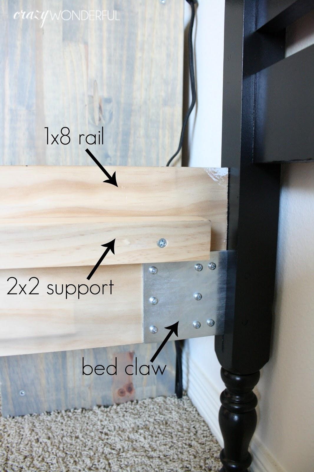 jenny lind bed paint + DIY bed rails   Crazy Wonderful