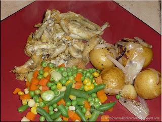 pan fried smelt dinner