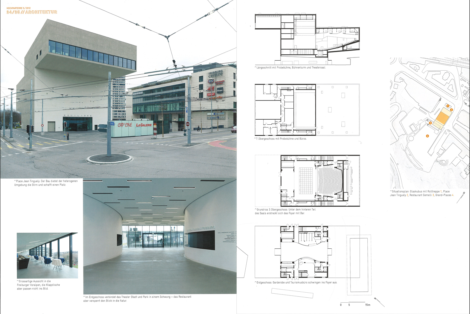 D rig ag theater fribourg im hochparterre for Architecture equilibre