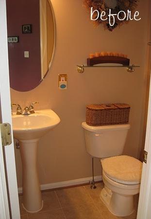 antes e depois de banheiro