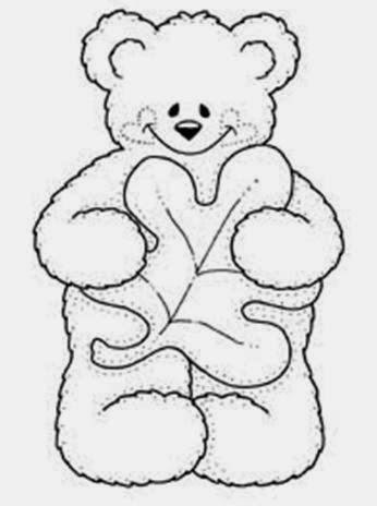 Desenhos de Ursinhos para colorir - Sentado - Desenhos para colorir