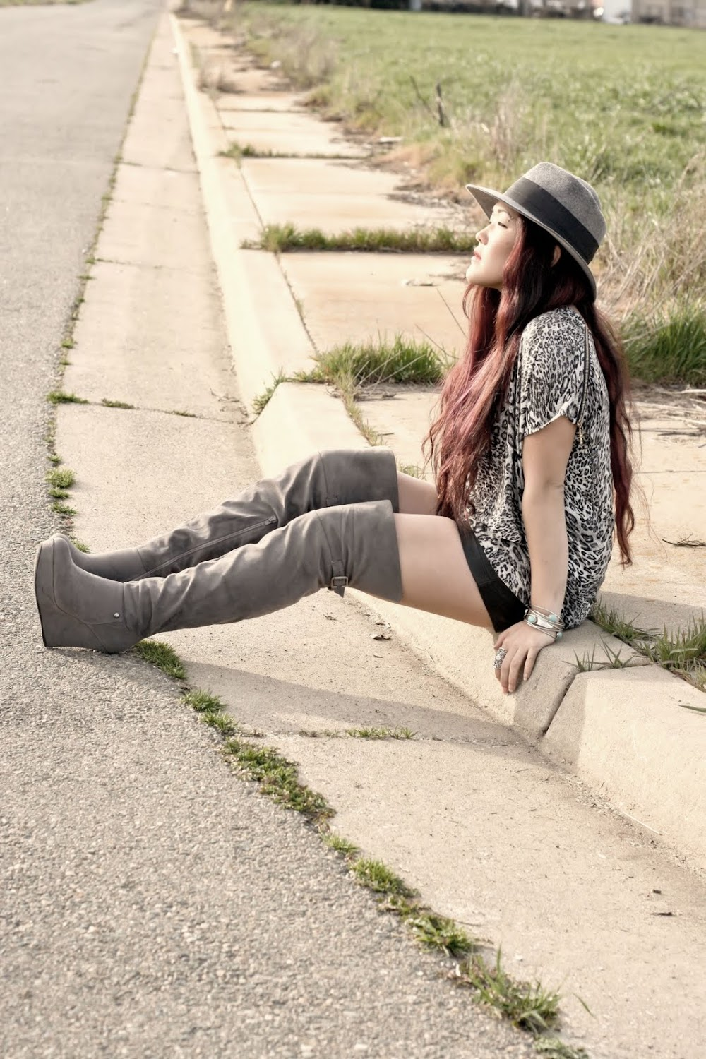 Urban Original boots, Forever 21 jewelry