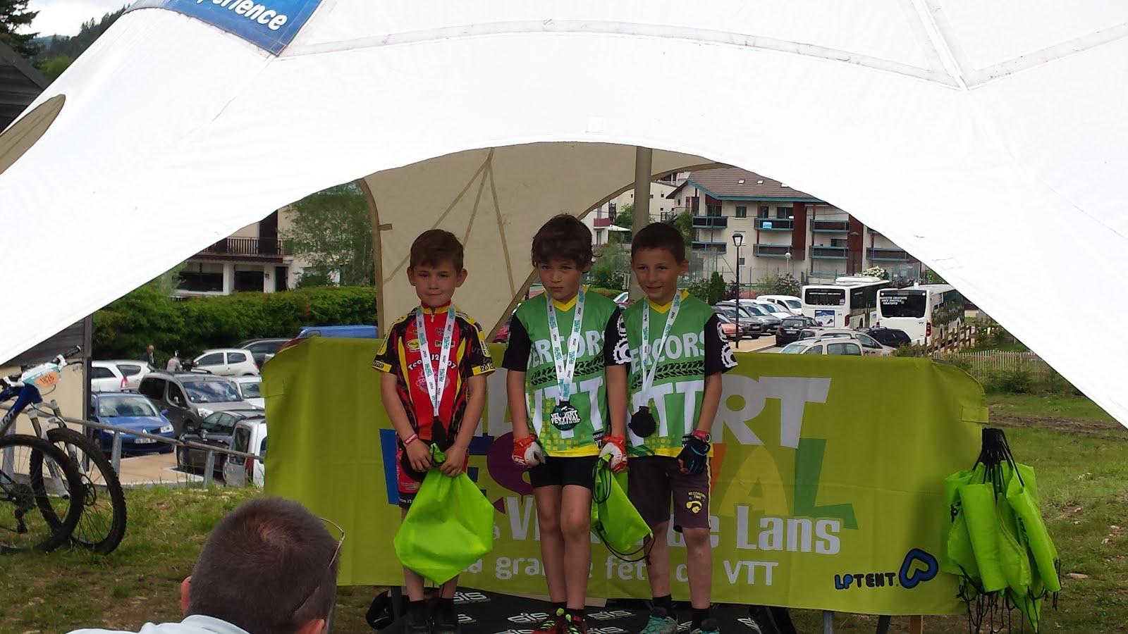 Vélovert Festival, Romain fils d'Alain  Saroul fait 3éme à la Kid Race.