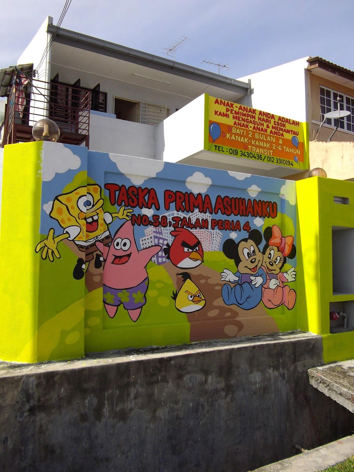 Warna arts child care mural taska prima asuhanku for Mural untuk taska