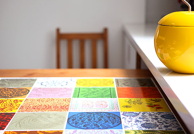 E se esta casa fosse minha azulejos coloridos - Mesas de azulejos ...