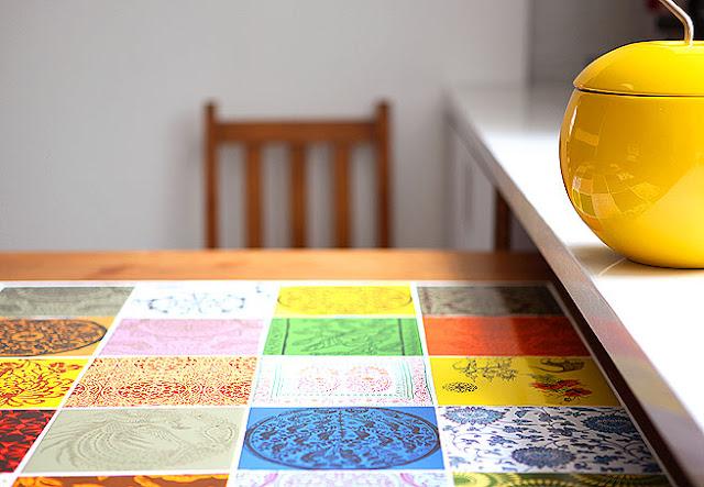 ladrilho hidráulico azulejo colorido