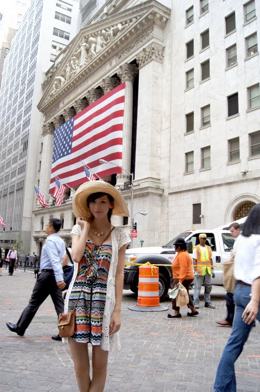 Model Li Fan - Short Jeans in New York
